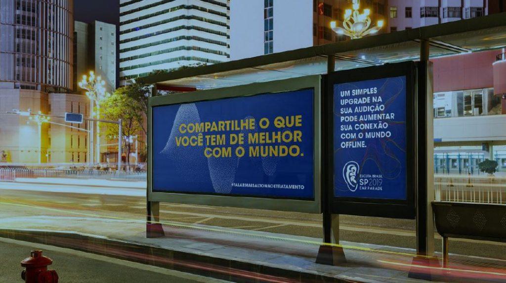 A Ear Parade é o primeiro evento de arte urbana no mundo relacionado à saúde auditiva. Foto: Divulgação.